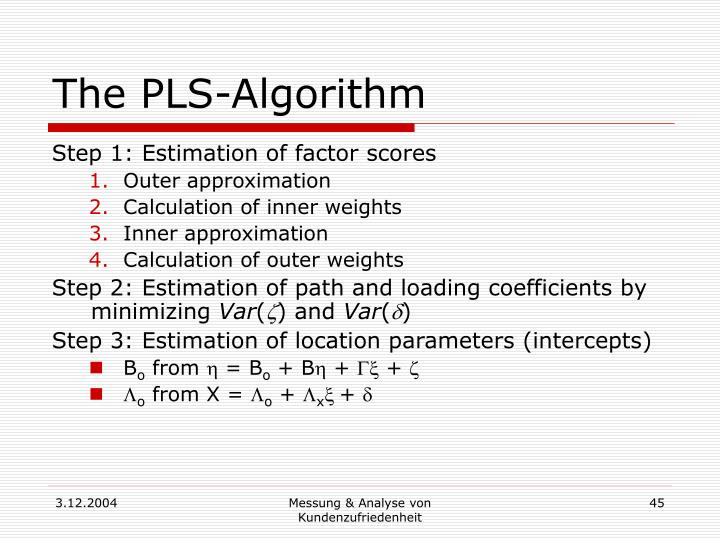 The PLS-Algorithm
