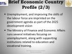 brief economic country profile 2 3