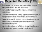expected benefits 1 2