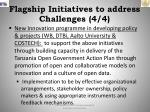 flagship initiatives to address challenges 4 4