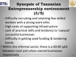 synopsis of tanzanian entreprenuership environment 3 5