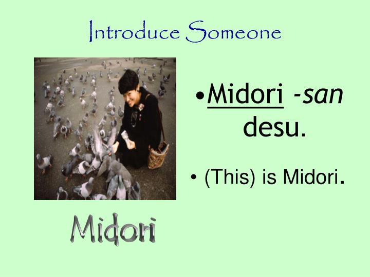 Introduce Someone