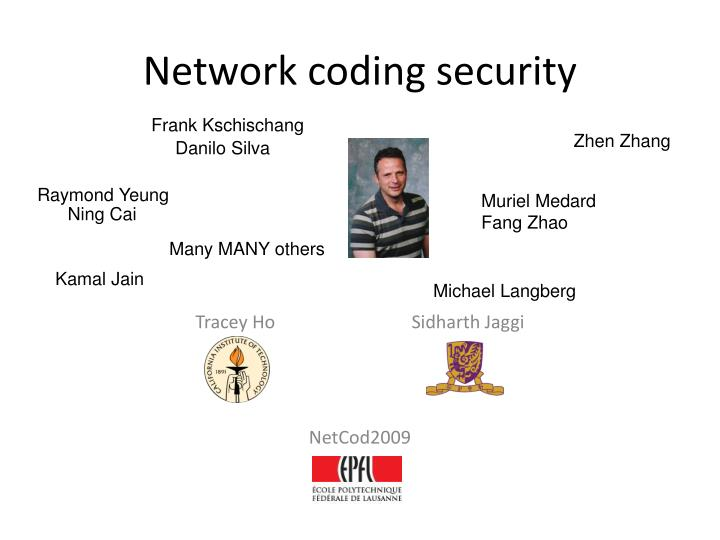 network coding security n.