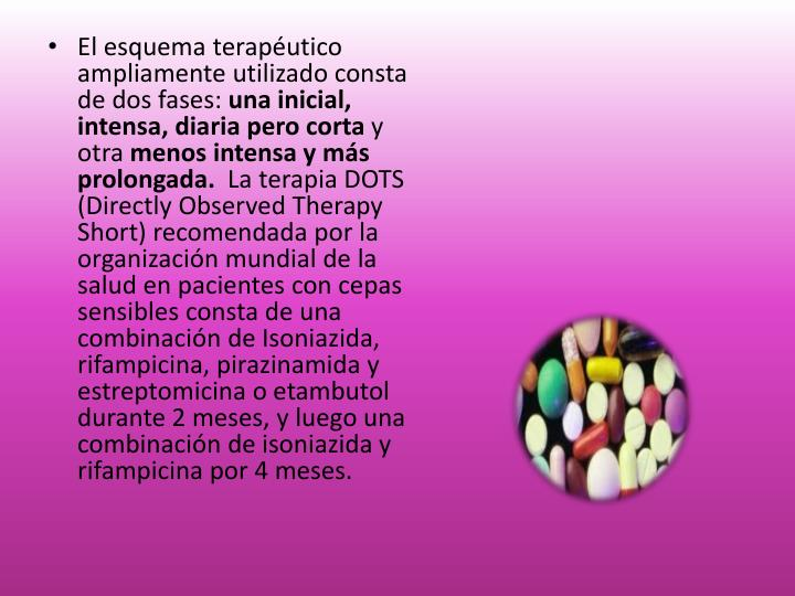 El esquema terapéutico ampliamente utilizado consta de dos fases: