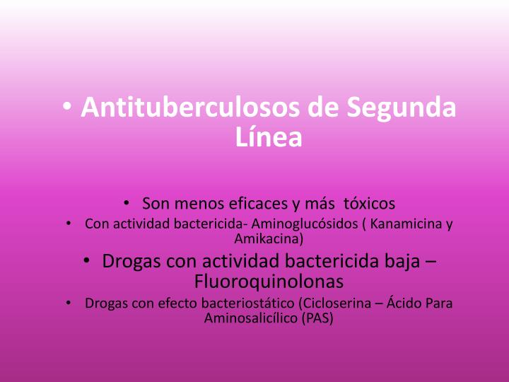 Antituberculosos de Segunda Línea