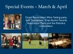 special events march april