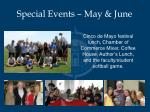 special events may june