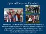 special events october