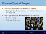 common types of ranges3