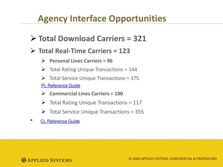 Agency Interface Opportunities
