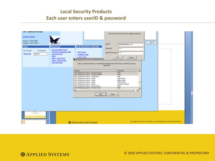 Local Security Products