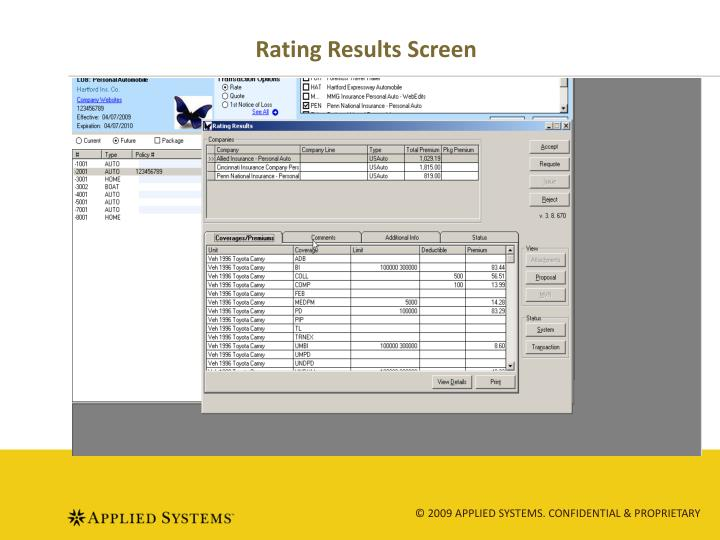 Rating Results Screen