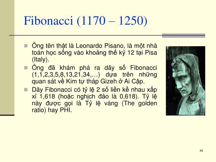 Fibonacci (1170 – 1250)