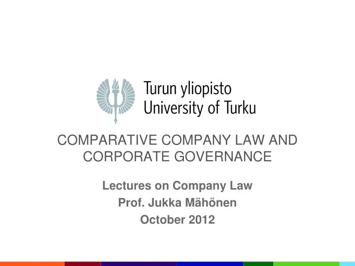 comparative corporate governance
