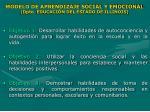 modelo de aprendizaje social y emocional dpto educaci n del estado de illinois