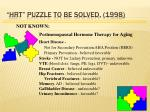 hrt puzzle to be solved 1998
