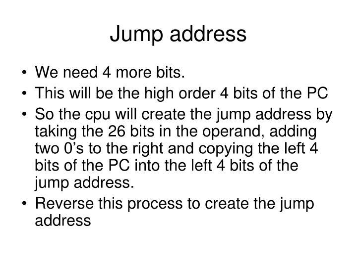 Jump address