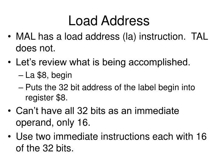 Load Address