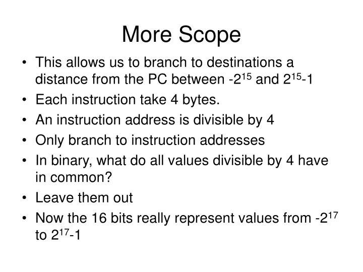 More Scope
