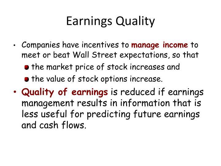 Earnings Quality