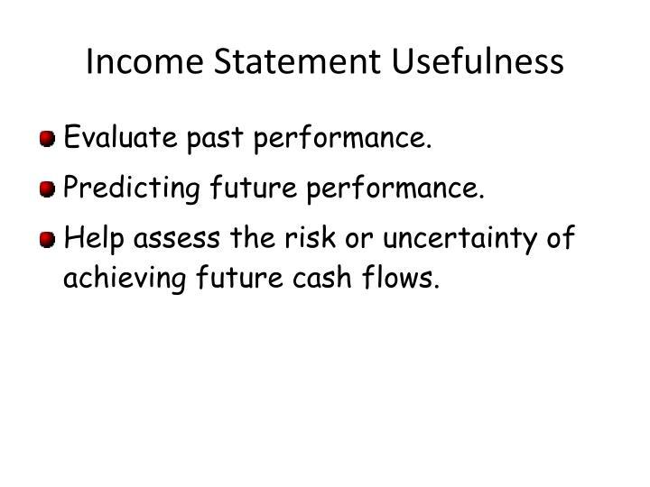 Income statement usefulness