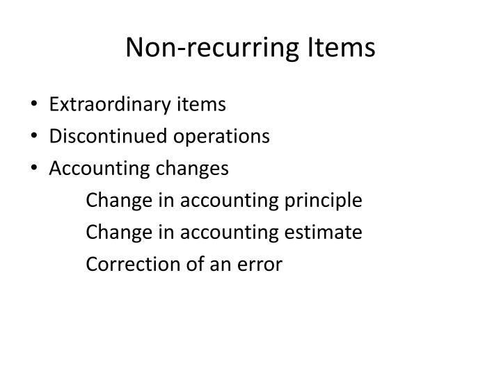 Non-recurring Items