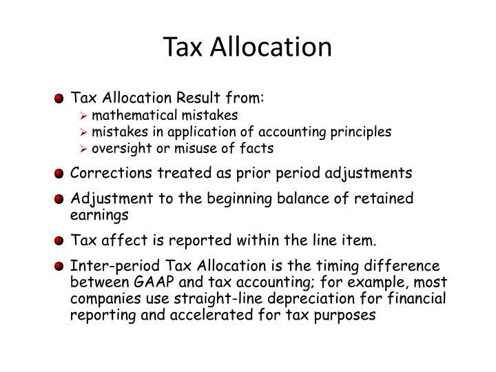 Tax Allocation