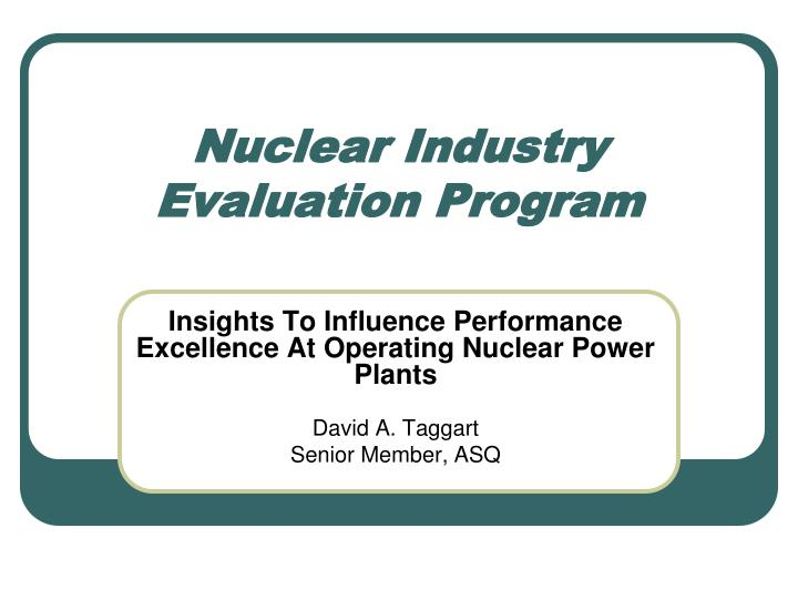 nuclear industry evaluation program n.