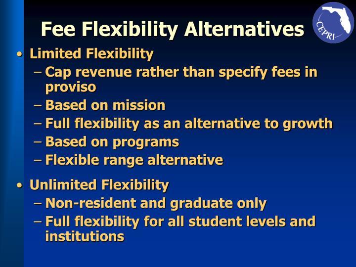 Fee Flexibility Alternatives