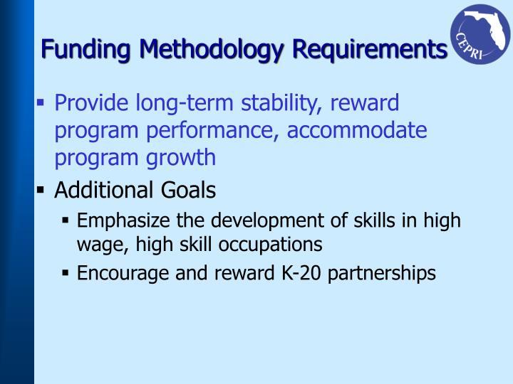 Funding Methodology Requirements