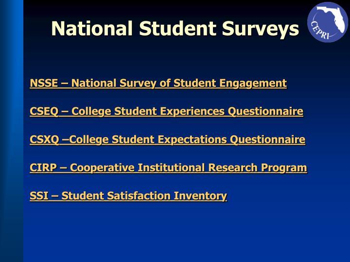National Student Surveys