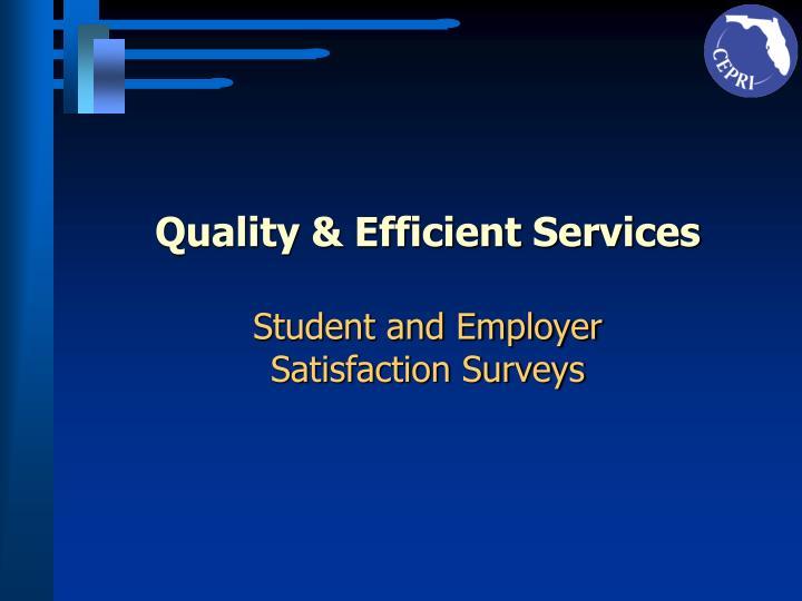 Quality & Efficient Services