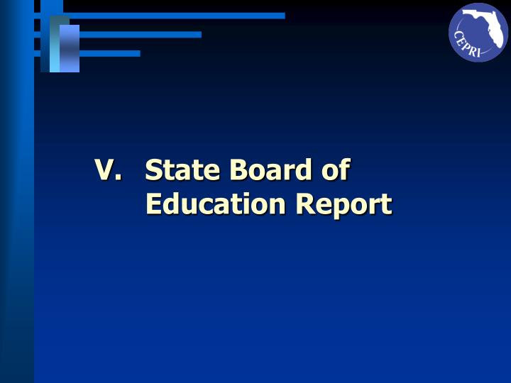 State Board of Education Report