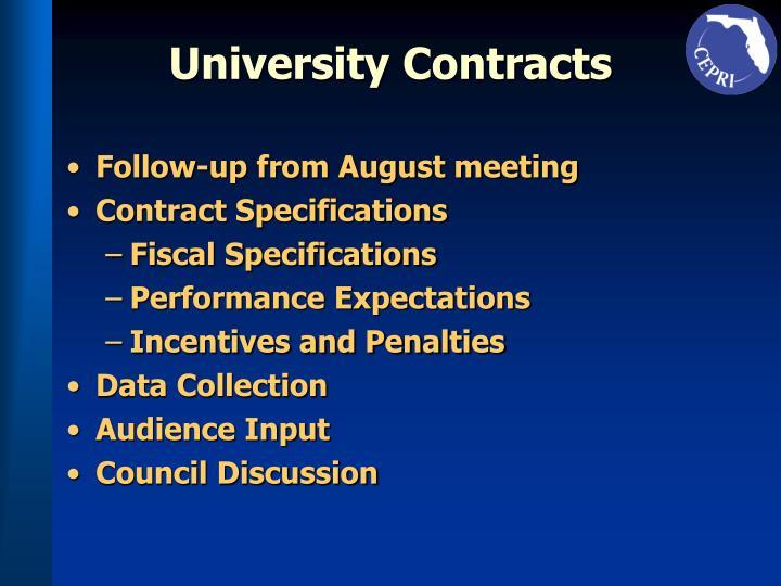 University Contracts