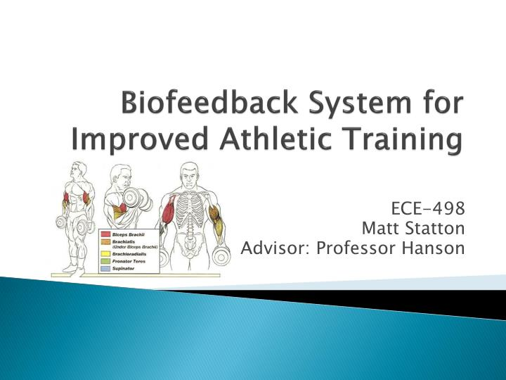 biofeedback system for improved athletic training n.