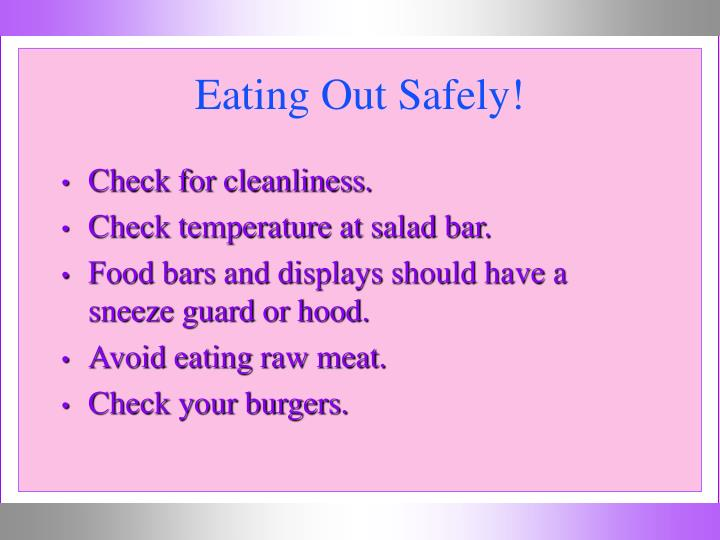 Eating Out Safely!