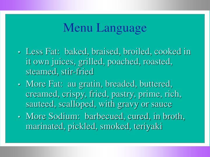 Menu Language