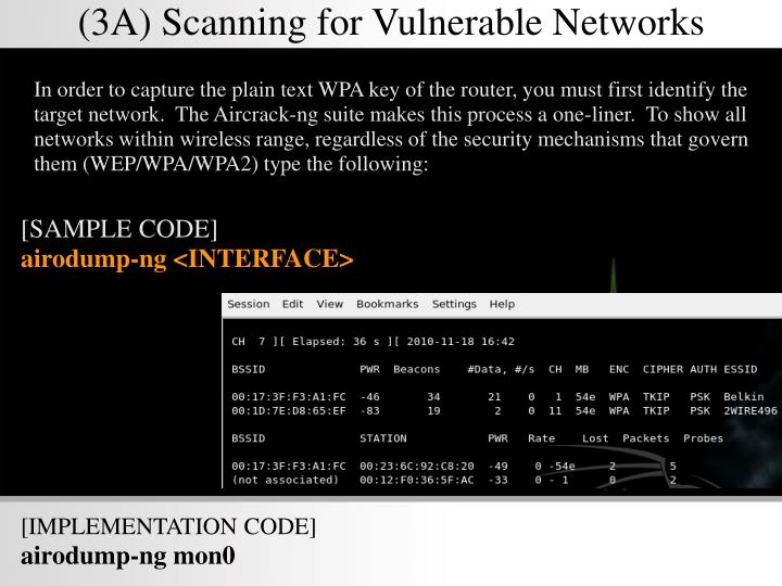 (3A) Scanning for Vulnerable Networks