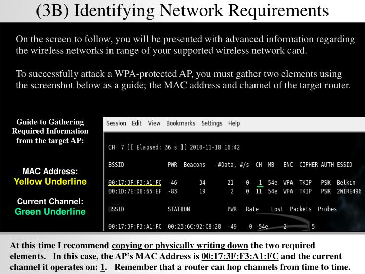(3B) Identifying Network Requirements