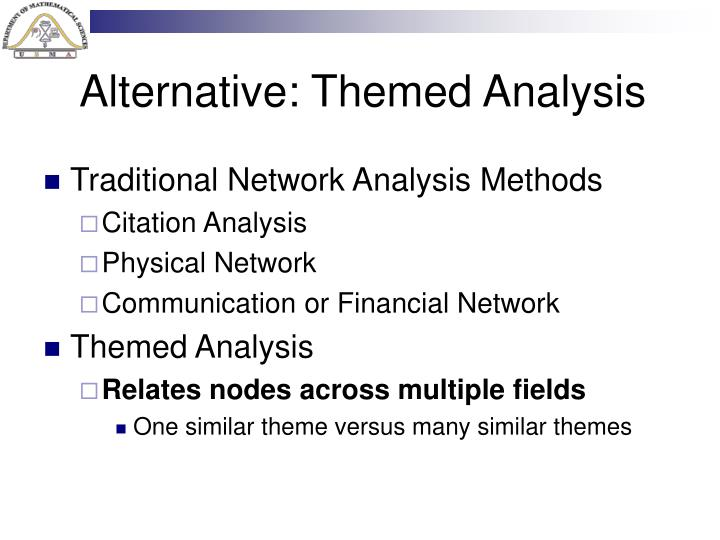 Alternative: Themed Analysis