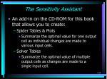 the sensitivity assistant