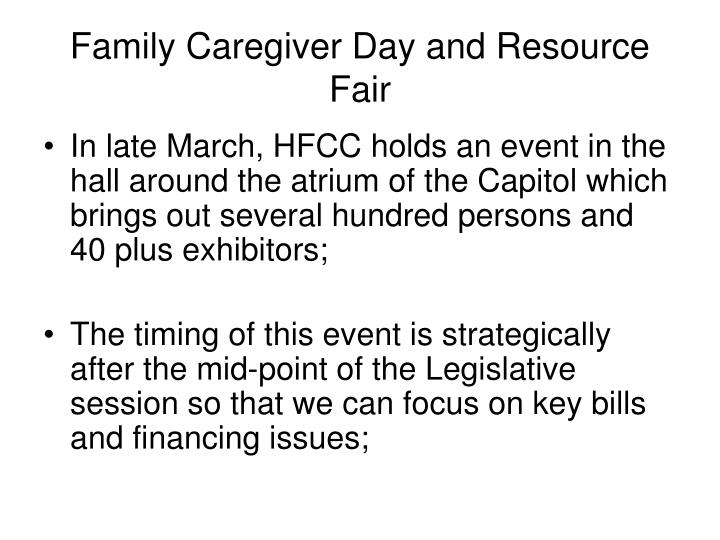 Family Caregiver Day and Resource Fair