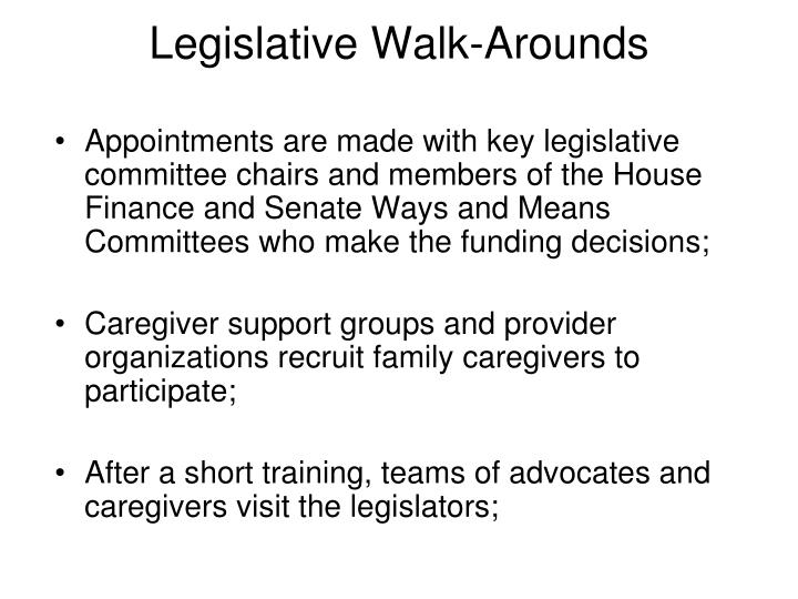 Legislative Walk-Arounds
