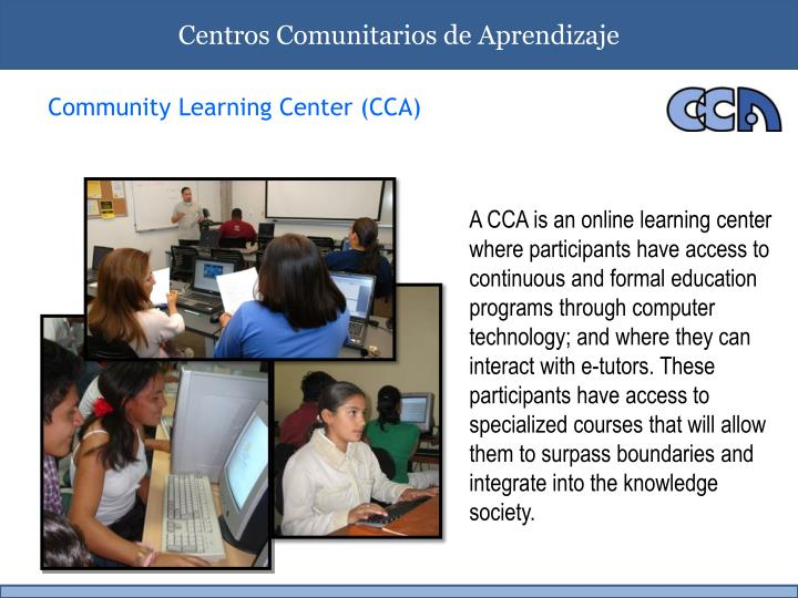 Community learning center cca
