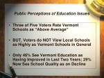 public perceptions of education issues1