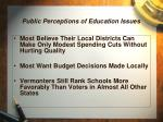 public perceptions of education issues3