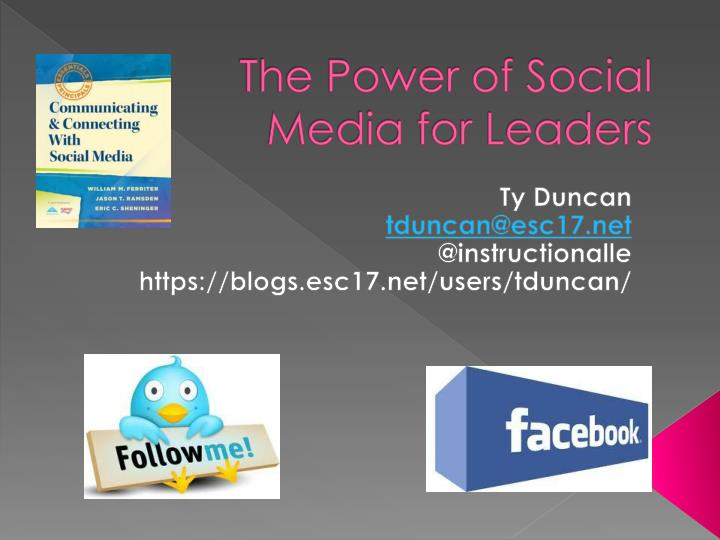 the power of social media for leaders n.
