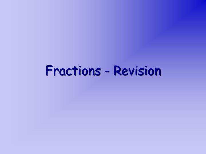 fractions r evision n.