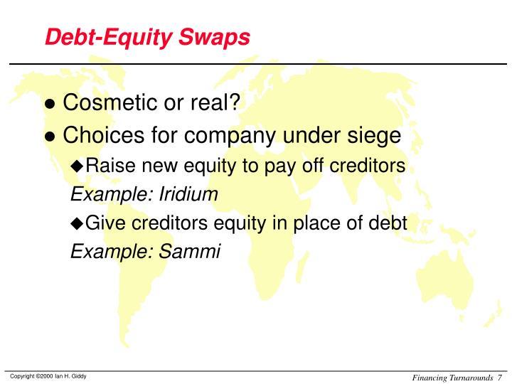 Debt-Equity Swaps